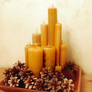 Натуральные свечи из вощины
